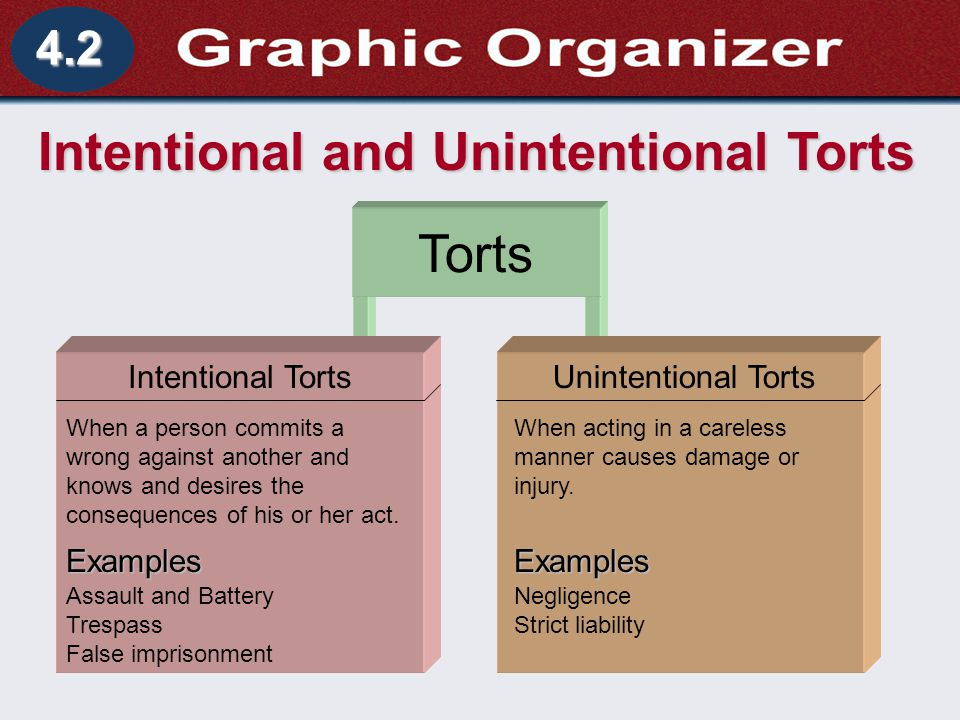 Intentional and Unintentional Torts