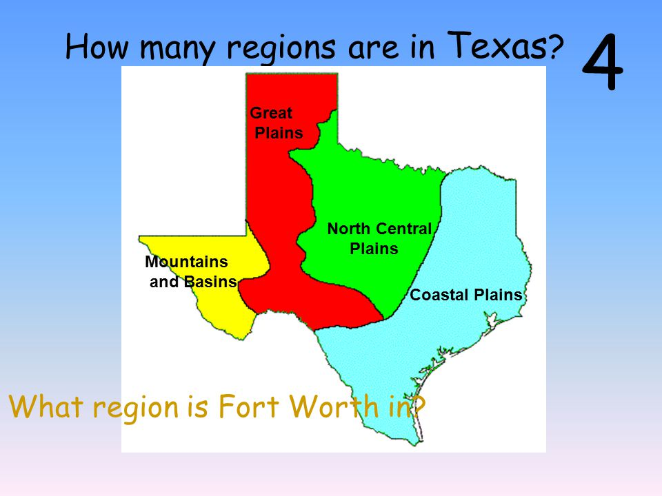 Map Of Texas 4 Regions.Regions Of Texas Ppt Video Online Download