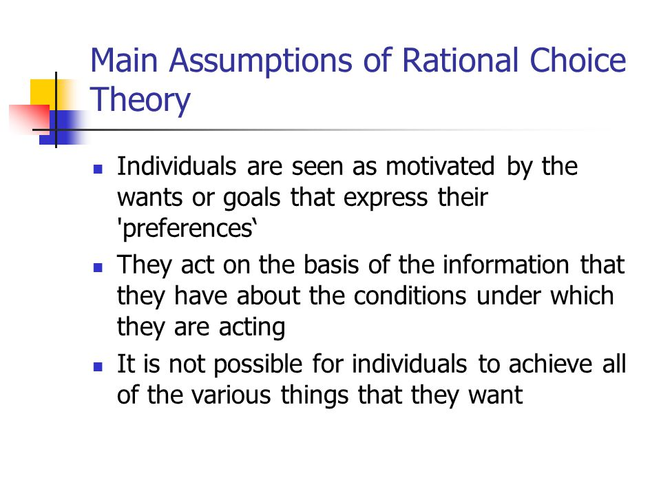 rational choice theory crime examples