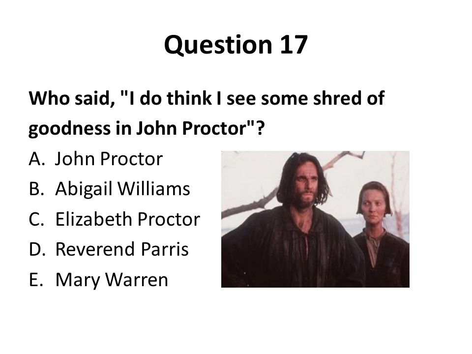 compare and contrast john proctor and reverend parris