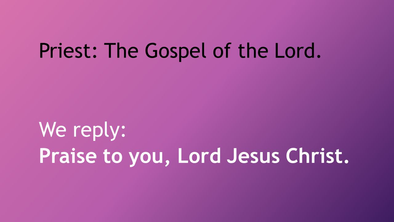 Priest: The Gospel of the Lord