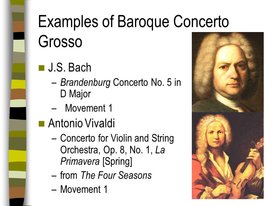 Examples of Baroque Concerto Grosso