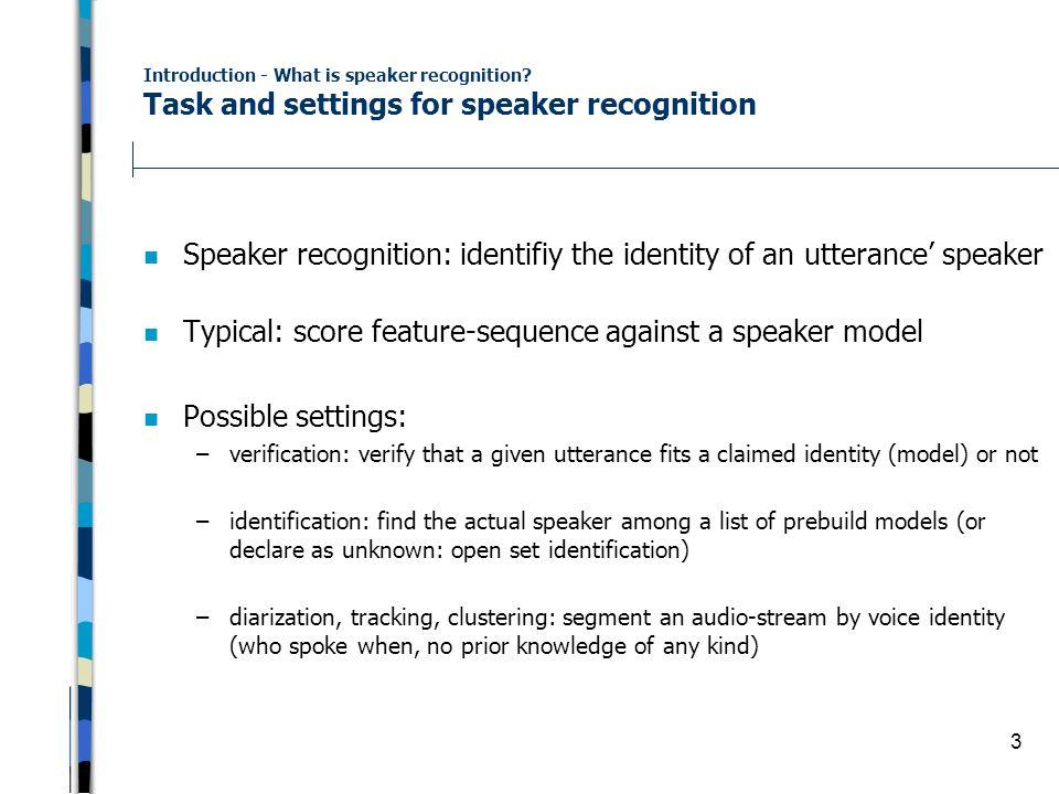 Vorlesung Video Retrieval Kapitel 8 2 – Speaker Recognition - ppt