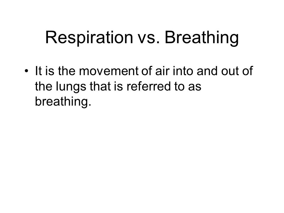Respiration vs. Breathing
