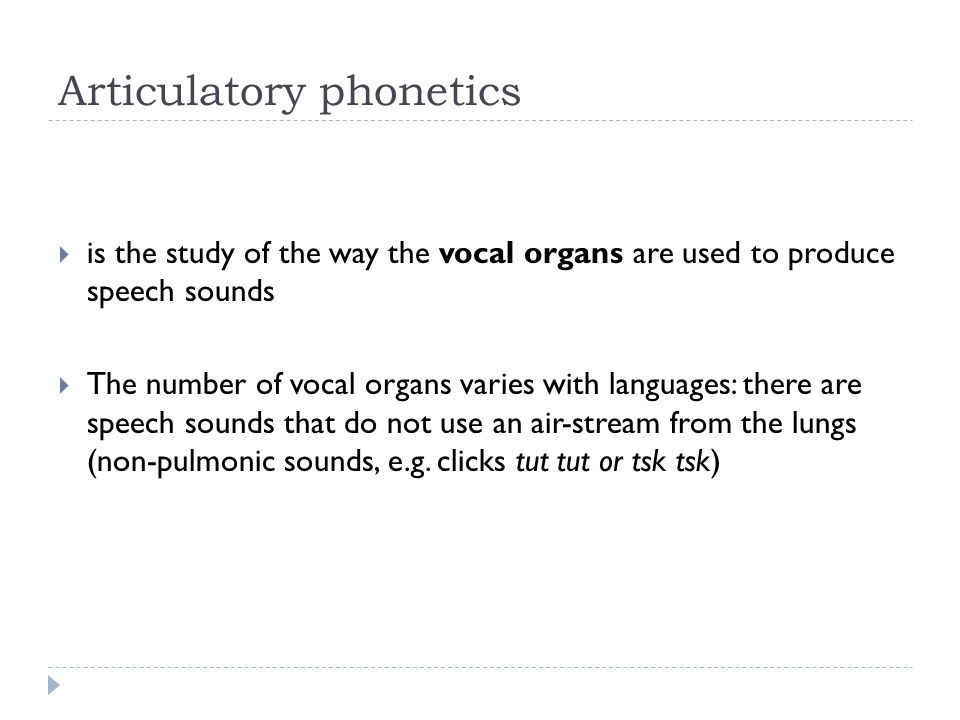 Articulatory phonetics