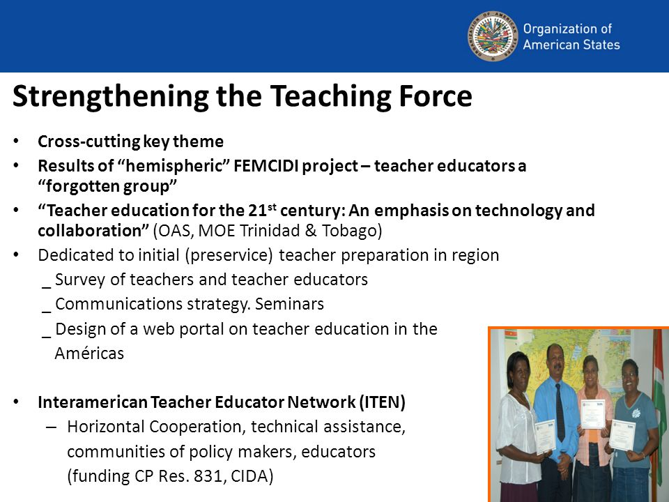 Strengthening the Teaching Force