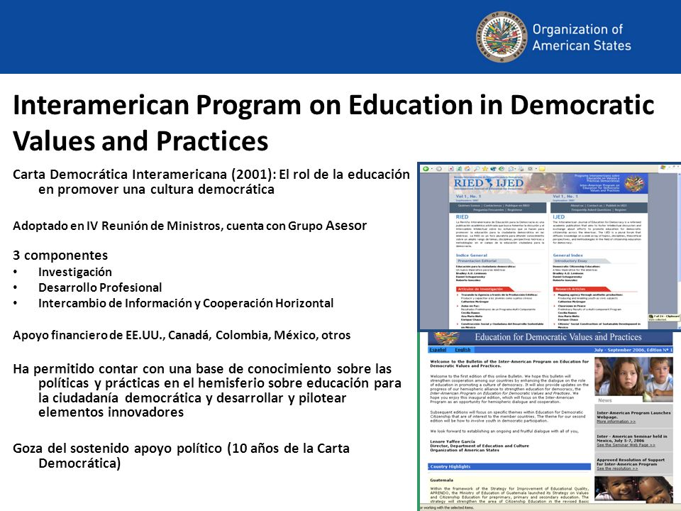 Interamerican Program on Education in Democratic Values and Practices