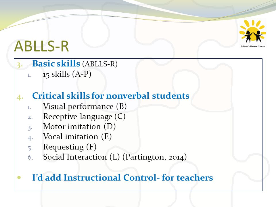 role of asd consultant and use of ablls r ppt download rh slideplayer com