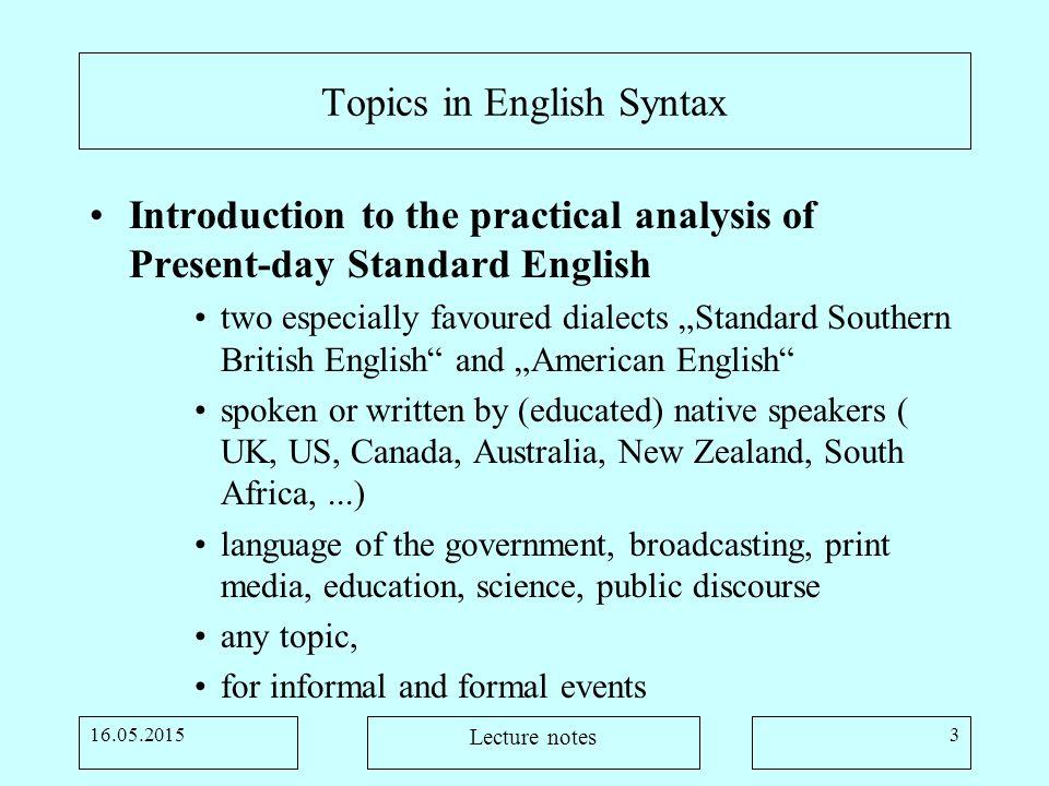 good oral presentation topics for english