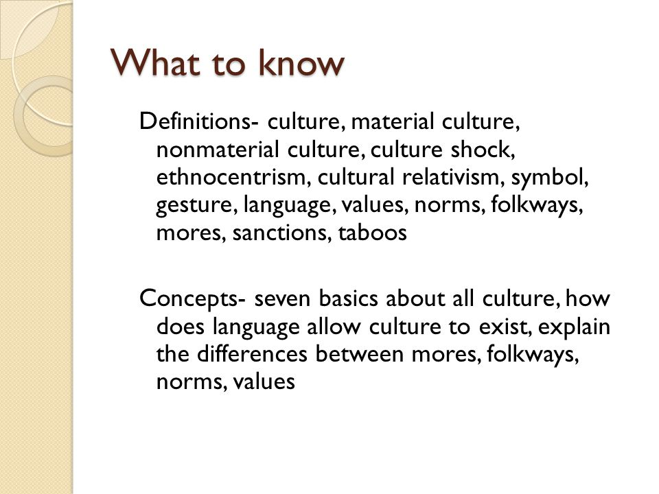 the four concepts of culture symbol language values and norms Sacred symbols 126  culture concept down to size, therefore actually insuring its continued  the interpretation of cultures  the interpretation of cultures.