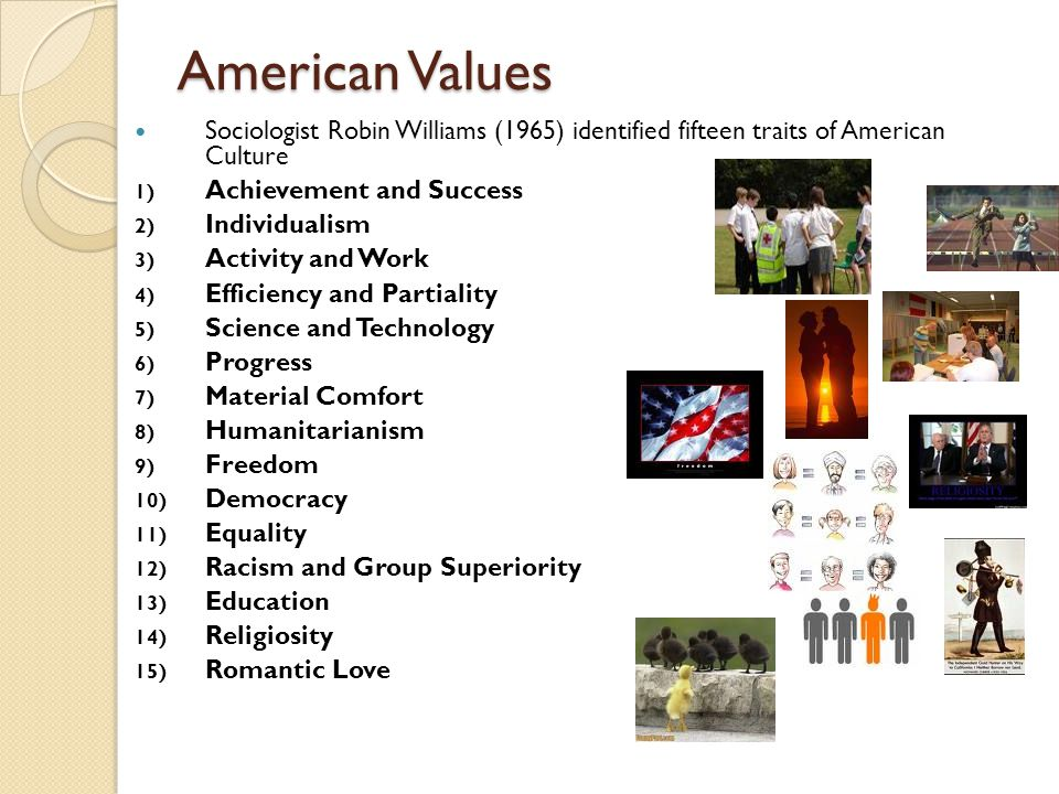 characteristics of americans american culture The university of michigan has composed a list of some of the basic characteristics of american culture in hopes to broaden americans understanding of their own culture as well as give people of other cultures the opportunity to better understand when and how to react when immersed in the united states and its people.