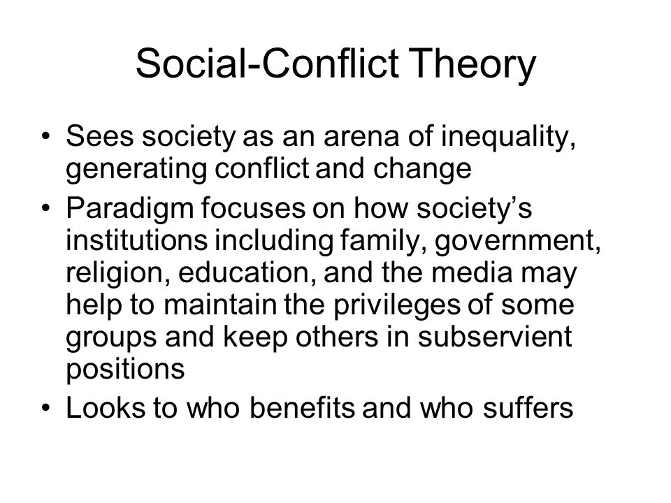 Social-Conflict Theory