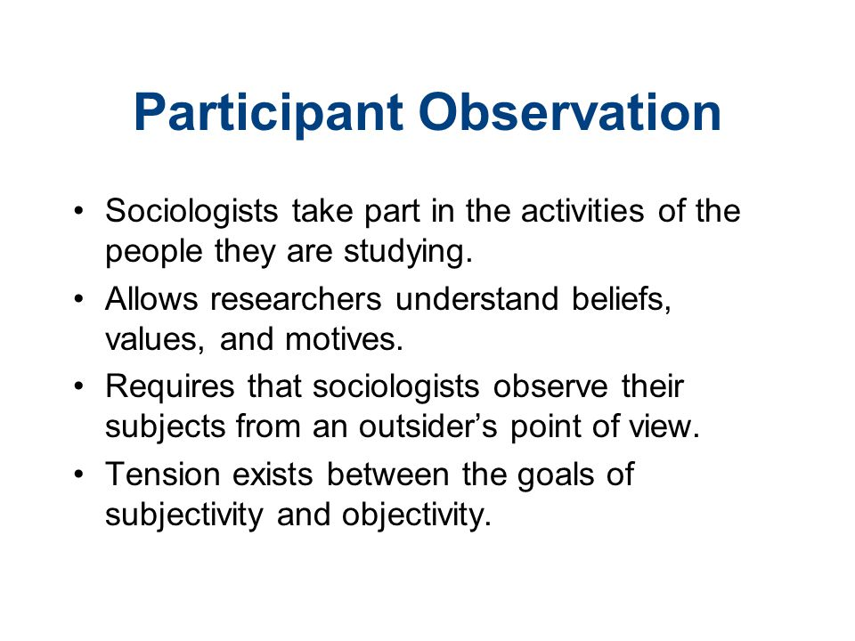 sociological observation examples