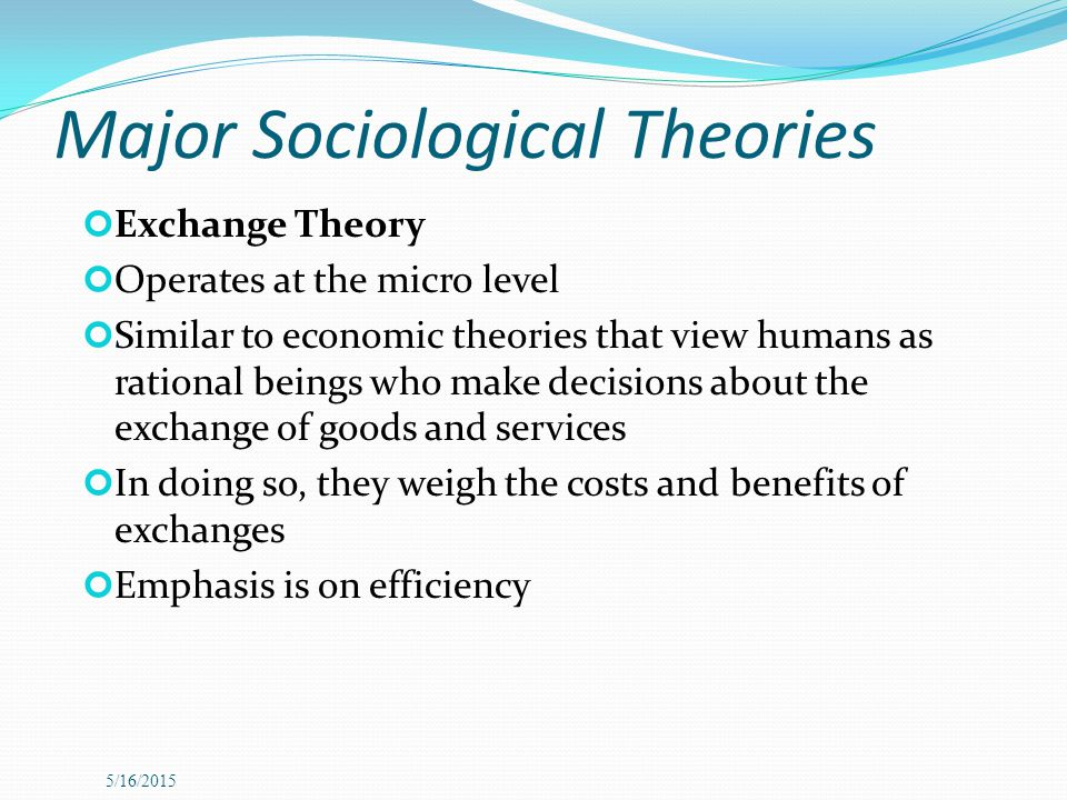 Major Sociological Theories