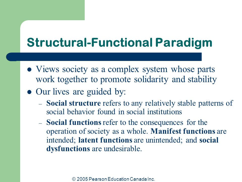 Structural-Functional Paradigm