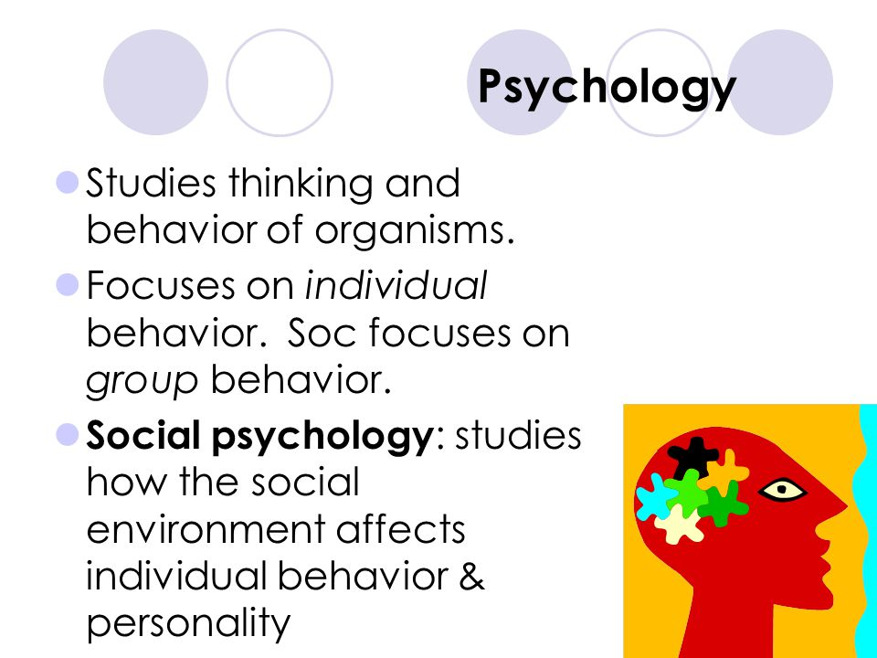 Psychology Studies thinking and behavior of organisms.