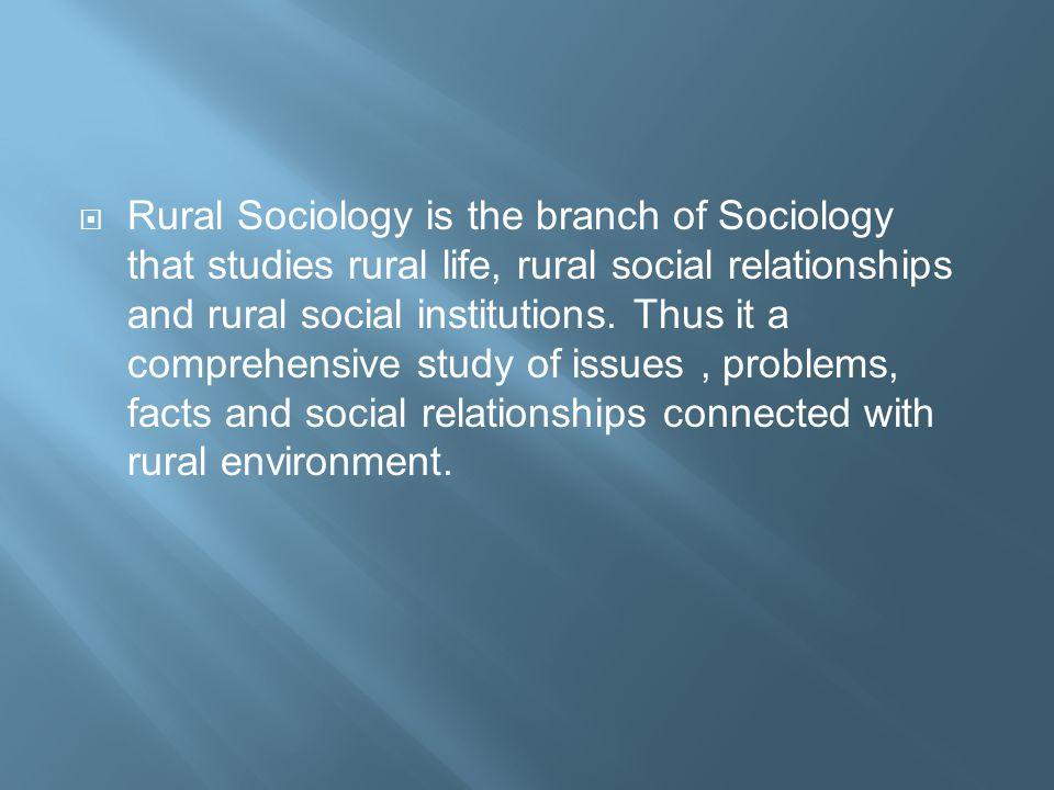 Rural Sociology  - ppt video online download