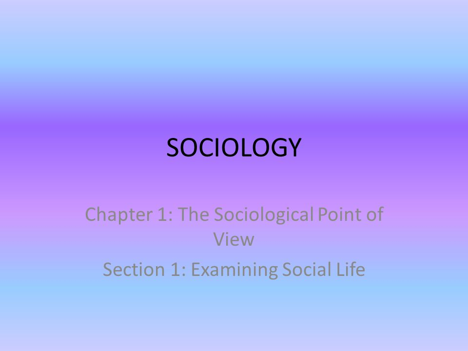 sociology chapters 10 13 Learn sociology chapter 13 with free interactive flashcards choose from 500 different sets of sociology chapter 13 flashcards on quizlet.