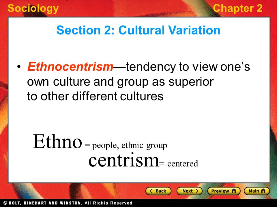 Section 2: Cultural Variation