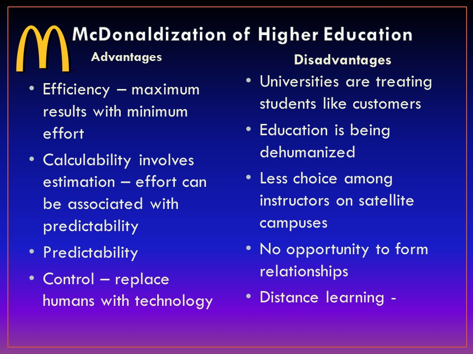 disadvantages of higher education