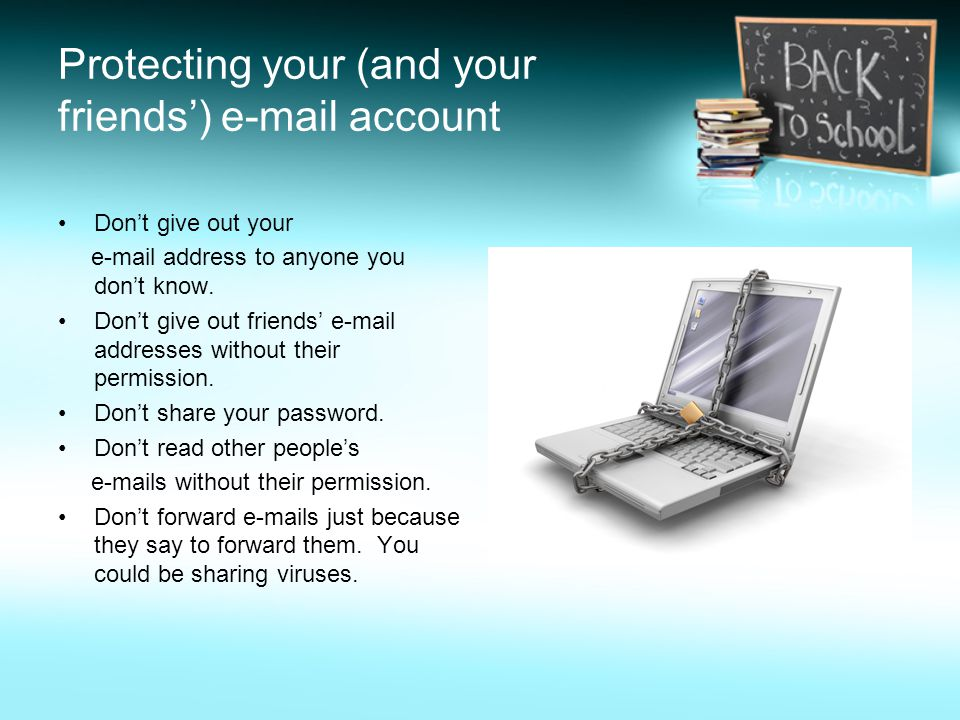 Protecting your (and your friends')  account