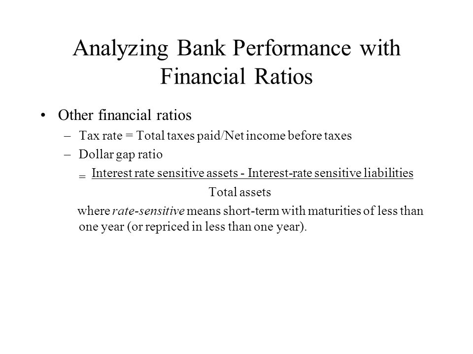 Analyzing Bank Performance with Financial Ratios