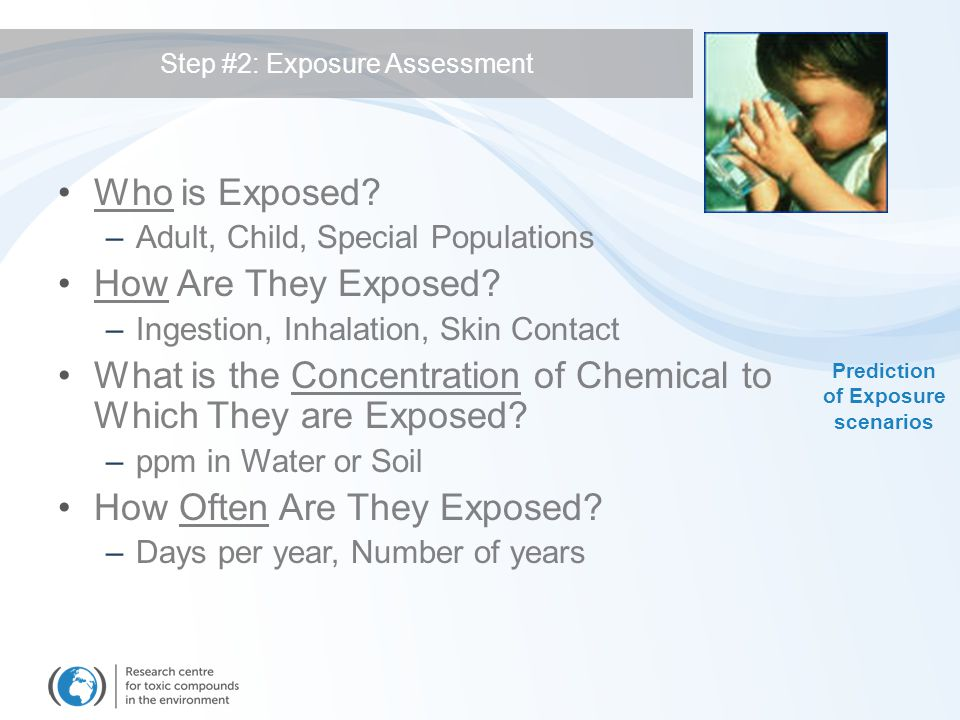 Step #2: Exposure Assessment