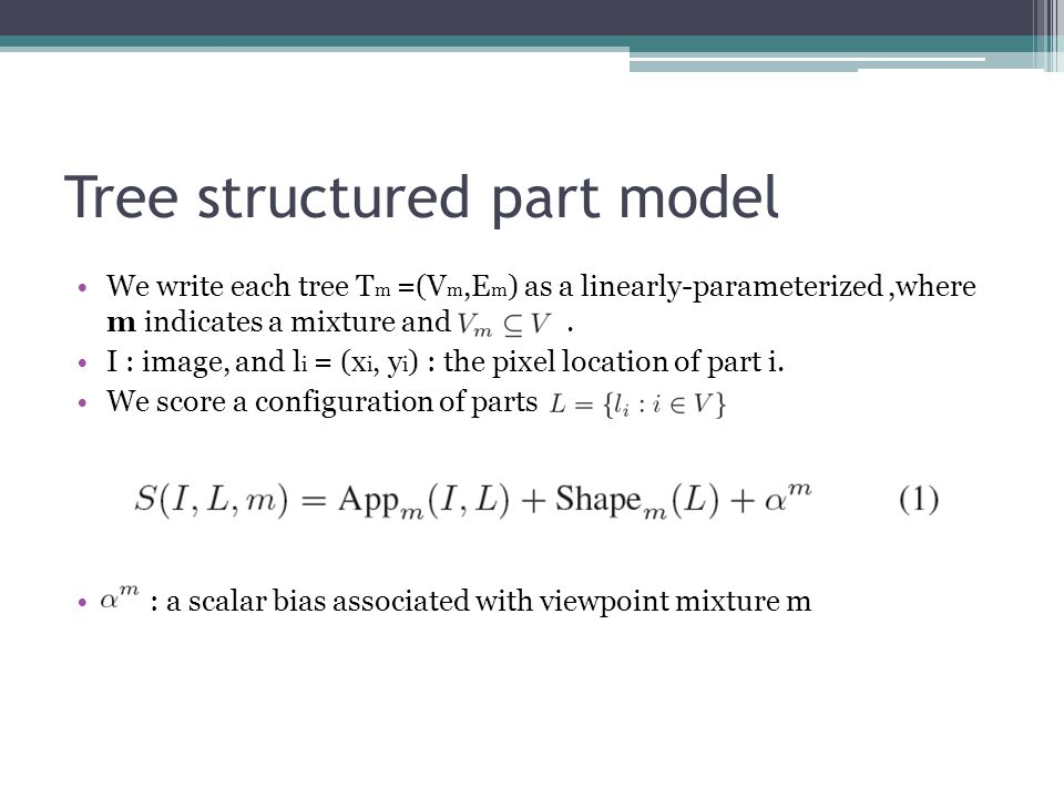 Tree structured part model
