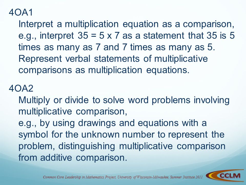 Multiplication Division Problem Situations Something New Ppt