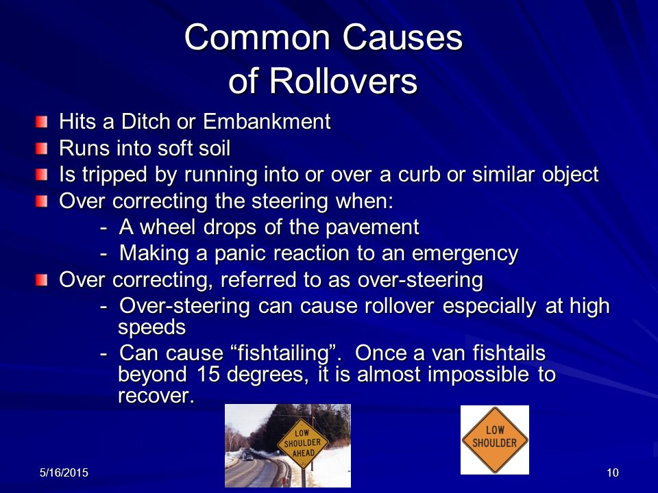 Common Causes of Rollovers