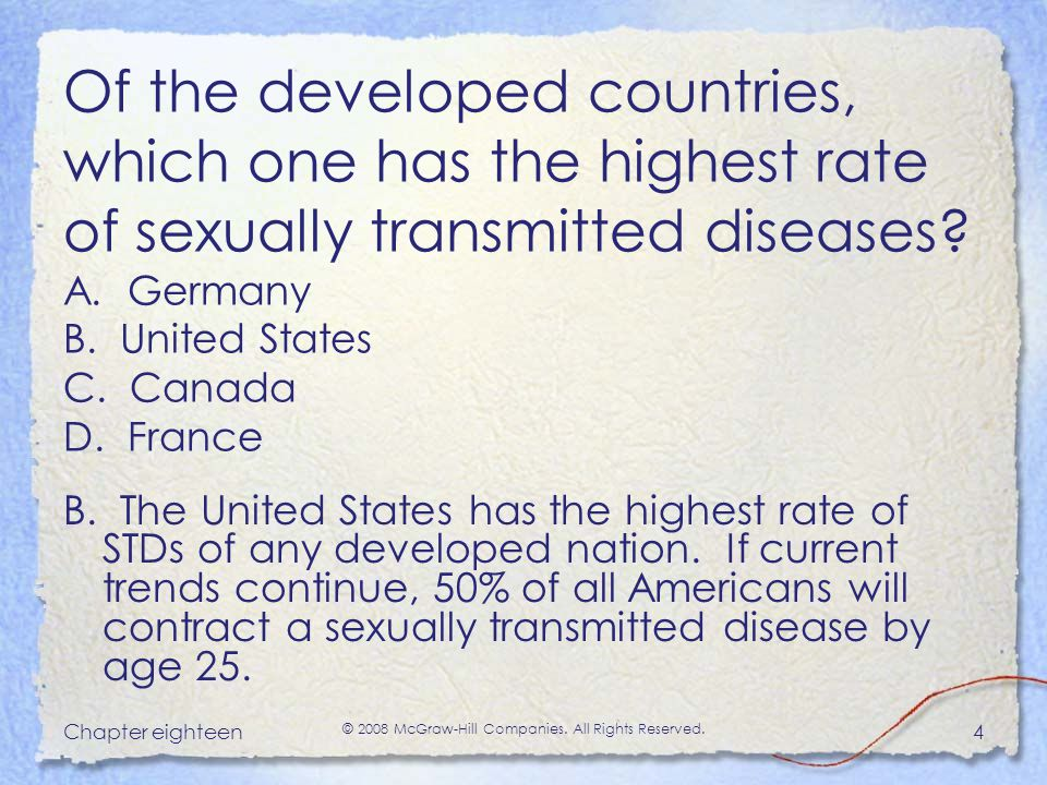 Sexually transmitted infections facts australia and oceania
