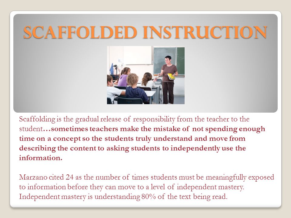 Scaffolded Instruction