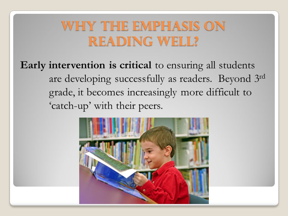 Why the emphasis on Reading Well