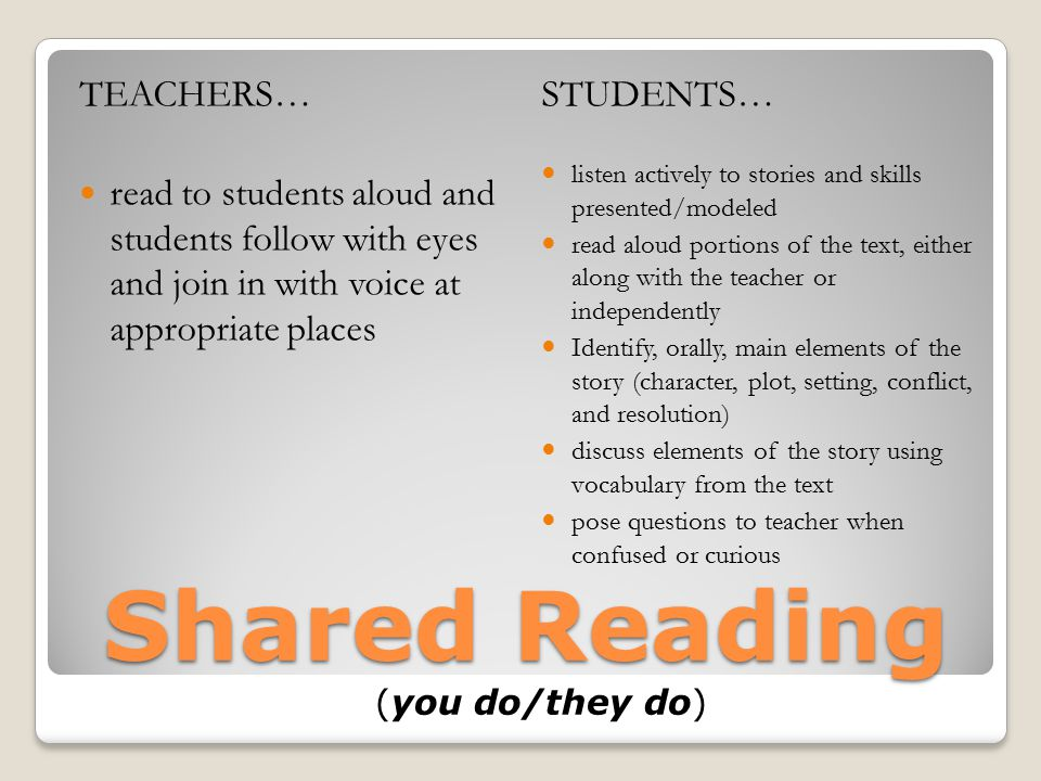 Shared Reading (you do/they do)