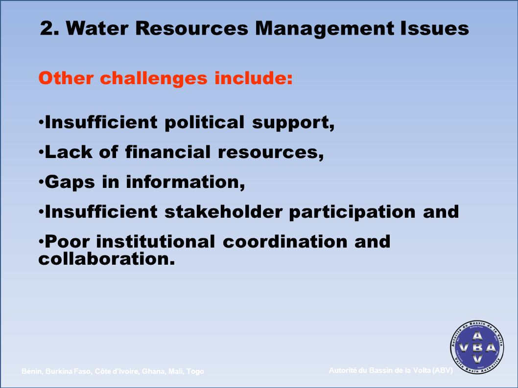 2. Water Resources Management Issues
