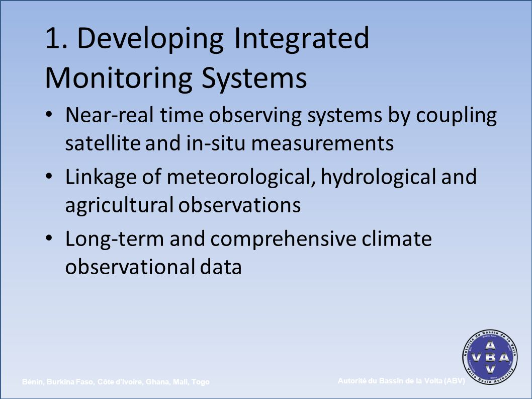 1. Developing Integrated Monitoring Systems