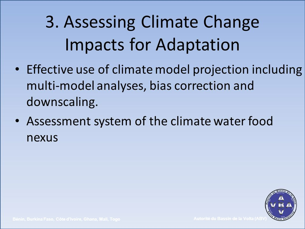 3. Assessing Climate Change Impacts for Adaptation