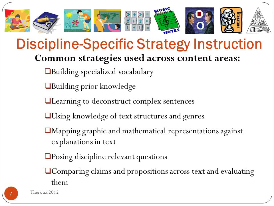 Discipline Specific Strategy Instruction Ppt Download