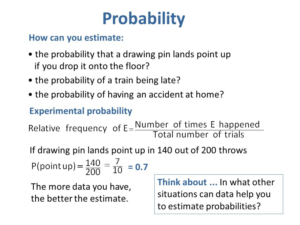 Probability How can you estimate: