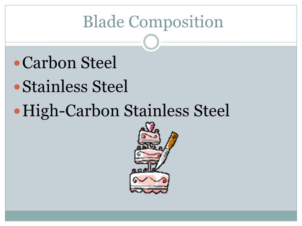 Blade Composition Carbon Steel Stainless Steel High-Carbon Stainless Steel