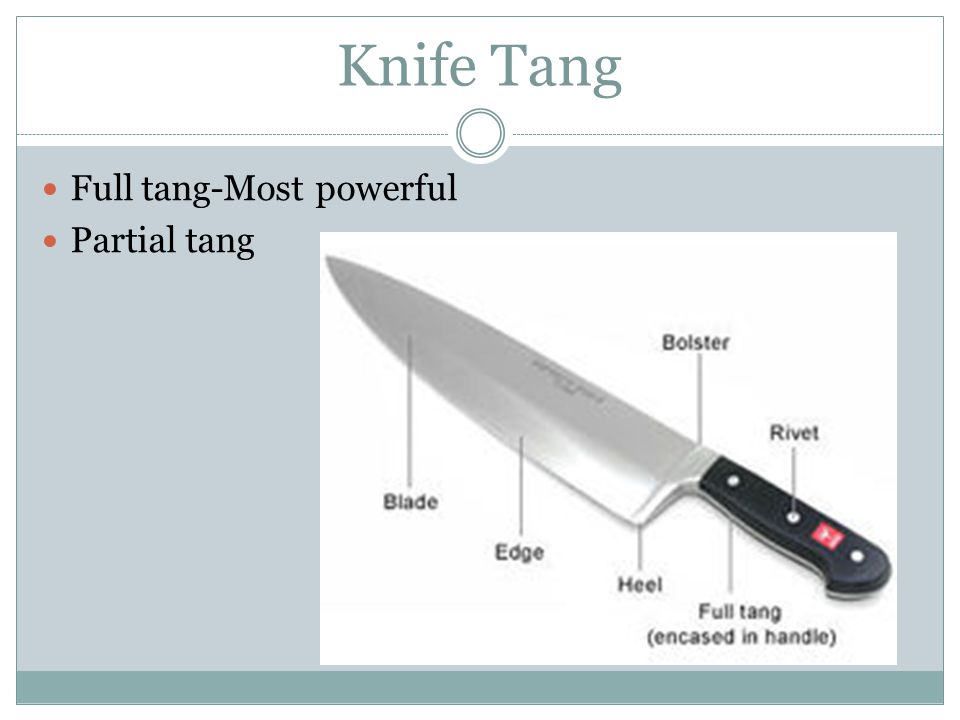 Knife Tang Full tang-Most powerful Partial tang