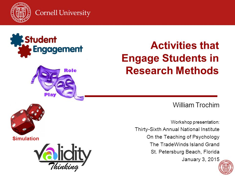 Activities that Engage Students in Research Methods - ppt