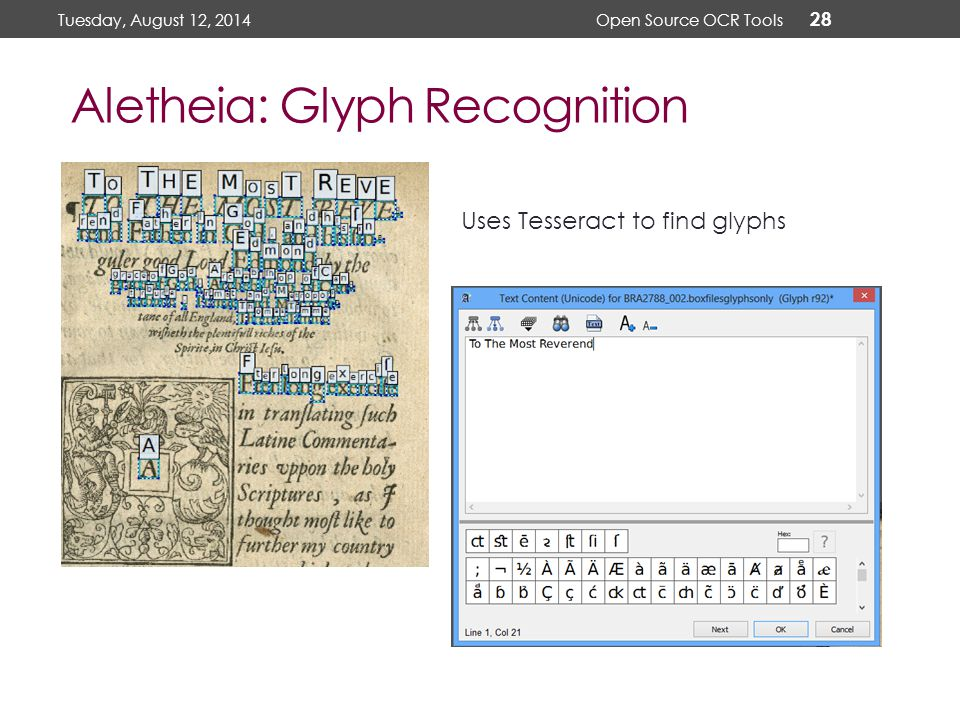 Using Open Source OCR Tools for Digitization Projects - ppt