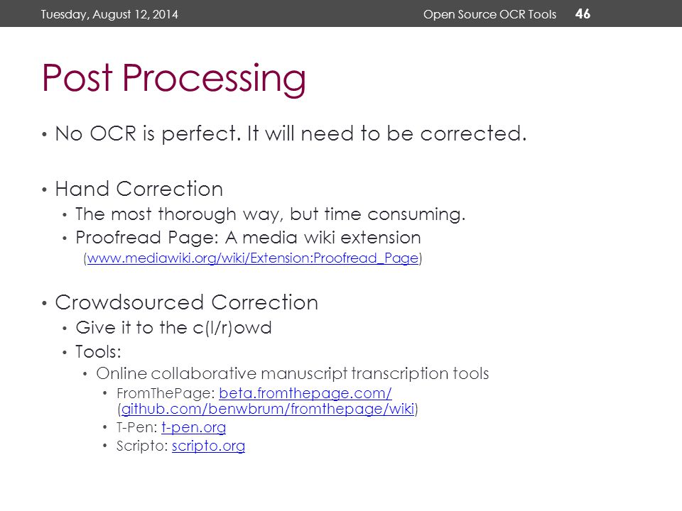Using Open Source OCR Tools for Digitization Projects - ppt video