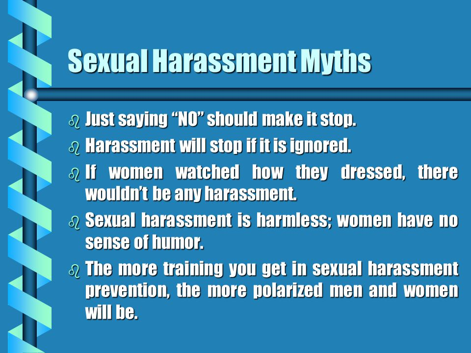 Sexual Harassment Myths