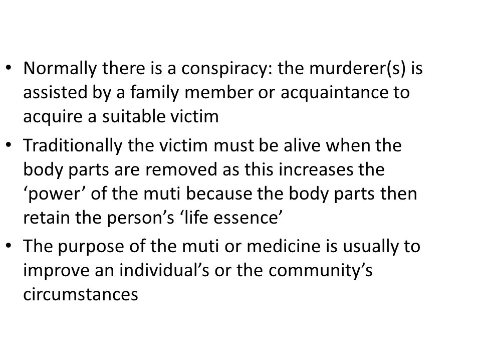 muti murders definition