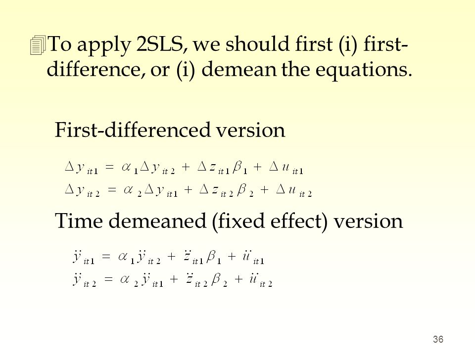 Lecture 12 (Ch16) Simultaneous Equations Models (SEMs) - ppt
