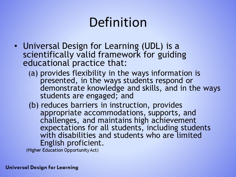 Universal Design For Learning Udl Ppt Download