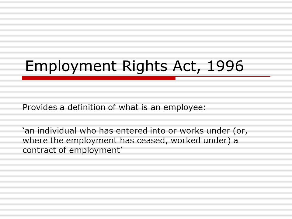 EMPLOYMENT RIGHTS ACT 1996 EBOOK DOWNLOAD