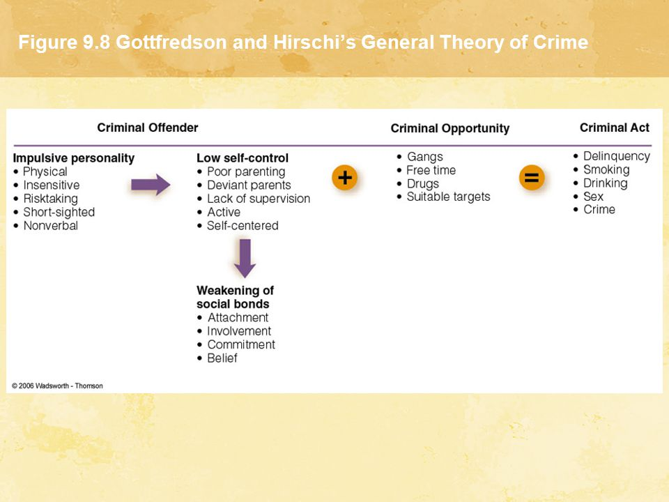 gottfredson and hirschi general theory of crime